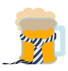 Isolated beer with a necktie icon vector