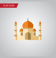 Isolated minaret flat icon religion vector