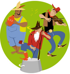 jug band vector image