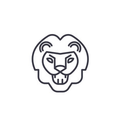 Lion roar line icon sign on vector