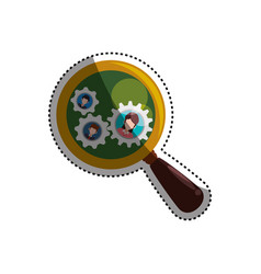 Magnifying glass people pictures vector