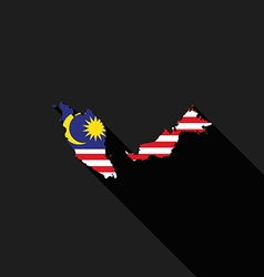 Malaysia flag map flat design vector