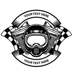motorcycle club logo design vector image