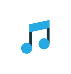 music colorful icon symbol premium quality vector image