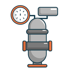 Oil industry equipment icon cartoon style vector