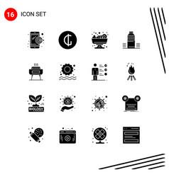 Pack 16 creative solid glyphs festivity vector
