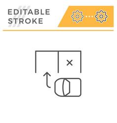 Parking scheme editable stroke line icon vector