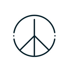 peace and human rights line emblem vector image
