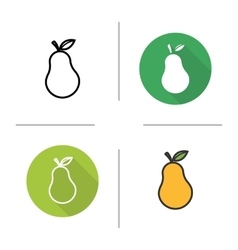 Pear icons vector