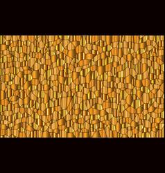 Random gold mosaic background vector