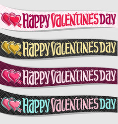 ribbons for st valentines day vector image