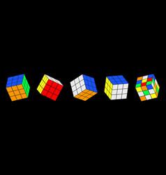 Rubiks cube set vector