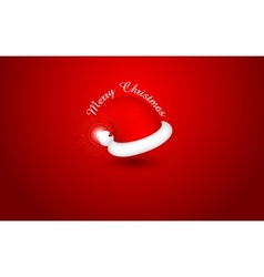 Santa Cap for Merry Christmas and Happy New Year vector image