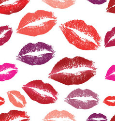 Seamless background Lips prints vector