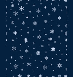 seamless of snowflakes vector image