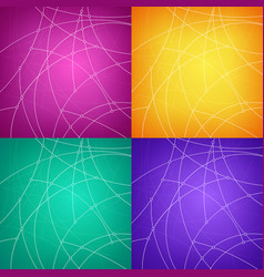 set of colorful abstract geometric backgrounds vector image