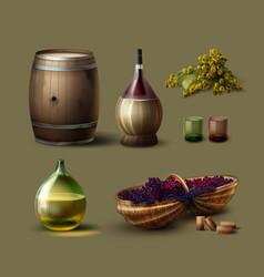 Set of winemaking vector