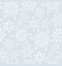 silver snowflakes pattern vector image