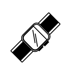 smart watch wearable technology outline vector image