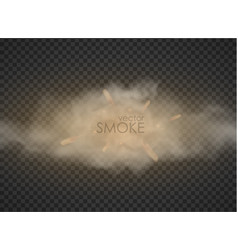 smog trail smoke isolated on transparent vector image