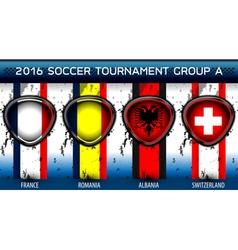Soccer Euro Group A vector