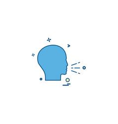 speech icon design vector image