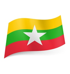 State flag of Republic of the Union of Myanmar vector image