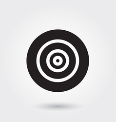 Target goal glyph icon for any purposes perfect vector