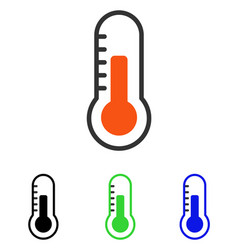 Temperature flat icon vector