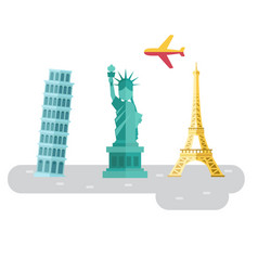 Travel europe famous landmarks and places symbol vector