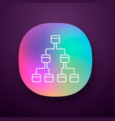 Tree diagram app icon hierarchical system node vector