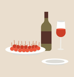 types aperitifes local vector image