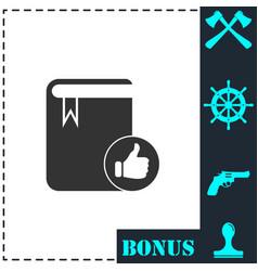 vip favorite book icon flat vector image