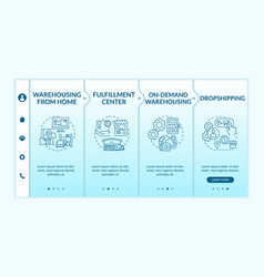 Warehousing from home onboarding template vector