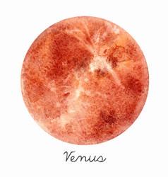 Watercolor venus planet vector