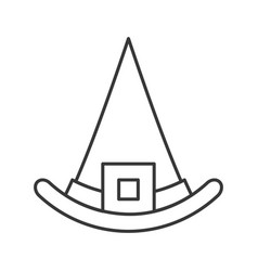 Witch hat halloween related hollow outline icon vector