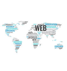 Word cloud business concept world map from text vector