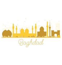 Baghdad City skyline golden silhouette vector image vector image