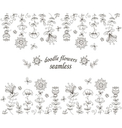 Floral seamless pattern doodle background hand vector image