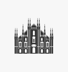 milan cathedral vector image
