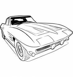vette sketch vector image vector image
