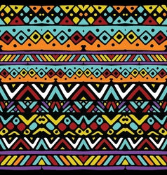 ethnic mexican tribal colored stripes seamless vector image vector image