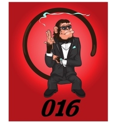 Monkey - agent of safety vector image