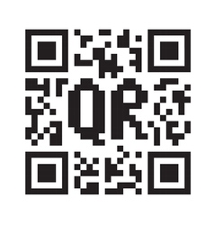 QR code abstract template vector image