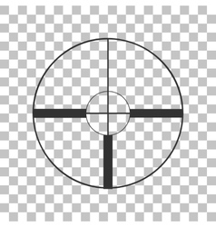 Sight sign Dark gray icon on vector image vector image