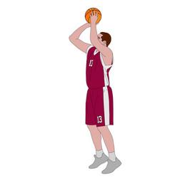 basketball player shooting free throw vector image