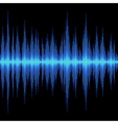 Blue Sound Wave on Black Background vector image