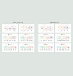 business process infographics with 3 4 5 6 7 vector image