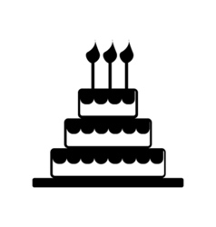 Cake celebrate icon silhouette vector