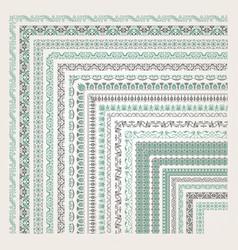 decorative seamless border vector image vector image